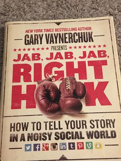 Jab, Jab, Jab, Right Hook Book by Gary Vaynerchuk for Sale in Tampa,  FL