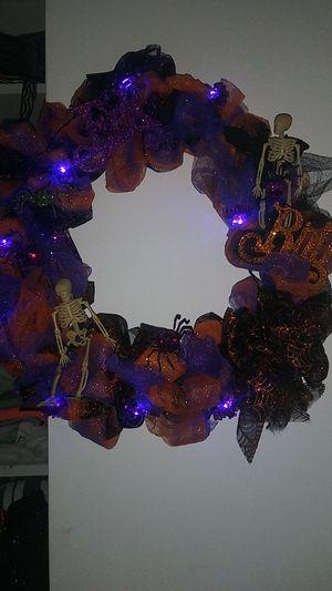 Lighted Haloween Wreath 🎃 for Sale in Newport News, VA