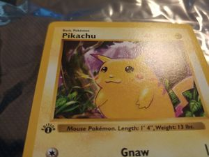 RARE Pokemon 1st Edition Shadowless Base Set Pikachu #58 - Red Cheeks Misprint - Gem Mint for Sale in Modesto, CA