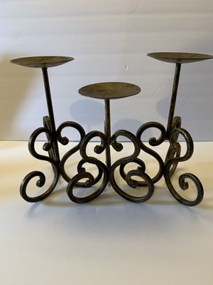 Iron Candle Stick Holders Set Of 3 for Sale in Beaumont, CA