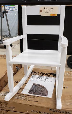 NEW Kids White Wood Rocker Rocking Chair for Sale in Burlington, NJ