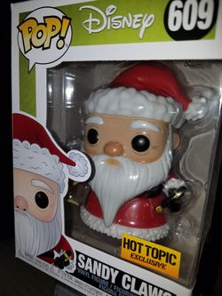 Funko pop Sandy Claws nightmare before christmas disney hot topic exclusive for Sale in Ontario,  CA