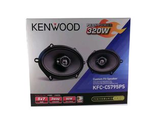 NEW KENWOOD 5X7 COAXIAL 3 WAY PERFORMANCE CAR AUDIO 320W SPEAKER SET KFCC5795PS for Sale in Chicago, IL