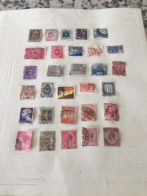 Page of various postage stamps for Sale in Los Angeles, CA