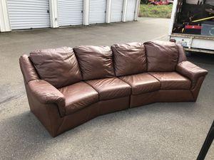 Leather sofa for Sale in Tacoma, WA
