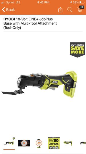 RYOBI 18-Volt ONE+ JobPlus Base with Multi-Tool Attachment (Tool-Only) for Sale in Pomona, CA