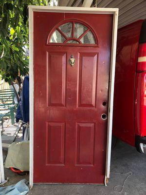 Entry door 35x79 solid wood front door for Sale in Brea, CA