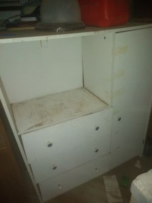 Three drawers TV stand with little closet for Sale in Fresno, CA