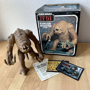 Vintage 1970s 72-76 Kenner Star Wars Return Of The Jedi Rancor Monster Figure Toy With Box And Booklets for Sale in Elizabethtown, PA