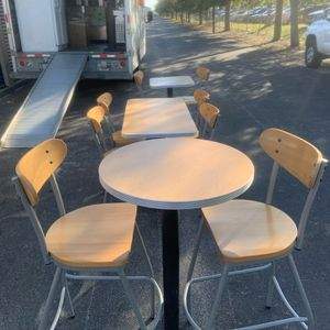 Lancaster tables tall, short 2 and 4 seating with chairs and bar height chairs plenty to choose from for Sale in Orlando, FL