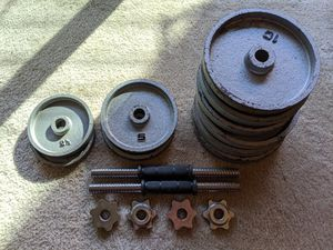 metal bumper weight plates set for Sale in San Francisco, CA