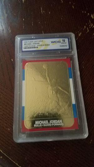 Michael Jordan 23 karat rookie gold card for Sale in Manassas, VA
