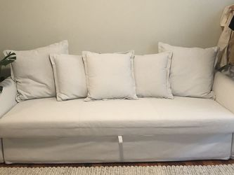 White Queen Size Pull Out Couch With Storage for Sale in Portland,  OR