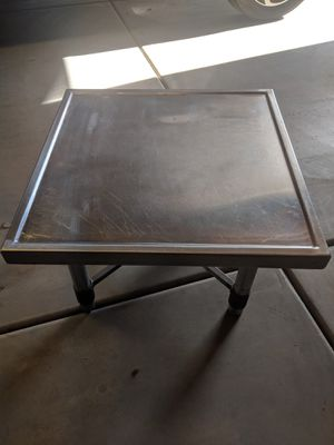 Industrial Stainless steel coffee - side table for Sale in Phoenix, AZ