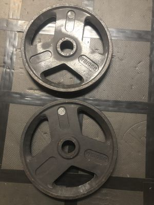 Pair of 35lb standard Olympic weight plates for Sale in Orlando, FL