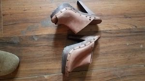 Brown heeled clogs for Sale in Wichita, KS