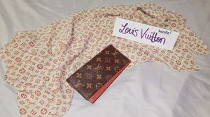 Louis Vuitton wallet and scarf bundle buy one get two for Sale in National City, CA