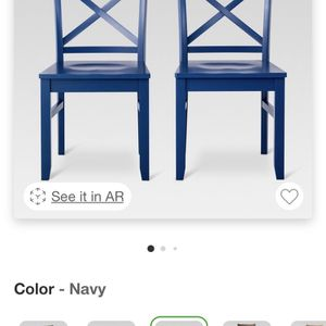 4 Navy Wooden Dining Chairs for Sale in Denver, CO