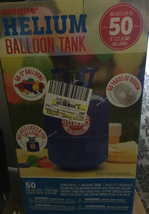 Unique Helium Balloon tank for Sale in Gastonia, NC