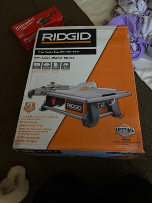 Ridgid table top wet tile saw for Sale in MD, US