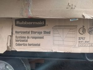 Rubbermaid horizontal storage shed for Sale in Bedford, OH