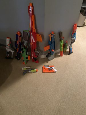 Nerf guns in good condition. Used 1 or 2 times. $80 or best offer for Sale in Stafford, VA