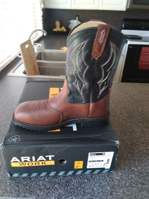 Ariat work boots stell toe for Sale in Dallas, TX