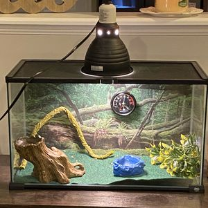 Reptile tank w/ heat lamp for Sale in Martinsburg, WV