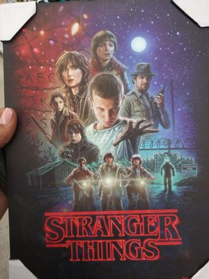 Stranger Things wooden hanging wall art for Sale in Lithonia, GA