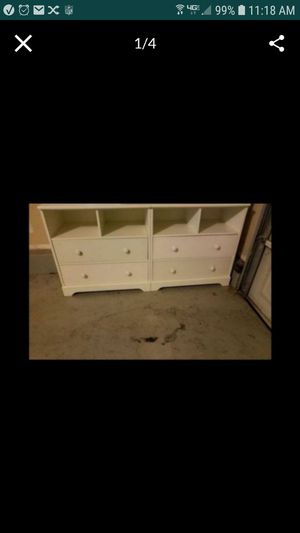 White pottery barn media center(bookshelf) 2 side stands with drawers and center section for Sale in Tracy, CA