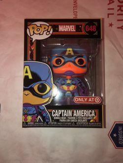 Funko Pop! Marvel: Black Light - Captain America Vinyl Figure #648 (Target Exclusive) for Sale in Smithtown,  NY