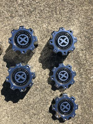 AMERICAN RACING AXT Series hub covers PERFECT CONDITION for Sale in Gresham, OR