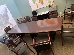 Conference table with 12 chairs for Sale in Oakland, CA