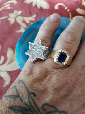 Platinum Iced Out Star🌟Ring Genuine Diamond Simulate Stones Mens Size 10 With Gift Box 🎁 *We Ship!📦📬* for Sale in Chandler, AZ