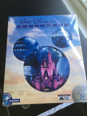The Walt Disney World Explorer 25th Anniversary Windows CD-ROM for Sale in Charlotte, NC