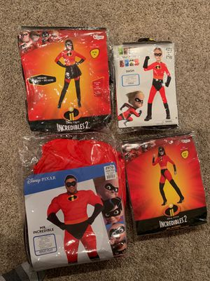 Disney Pixar The Incredibles costumes Mr. Mrs. Dash for Sale in Strongsville, OH