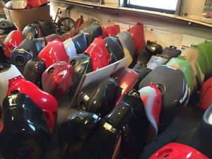 Motorcycle Fuel Gas Tanks Harley Davidson Ducati Honda Yamaha Suzuki Kawasaki BMW for Sale in Santa Ana, CA