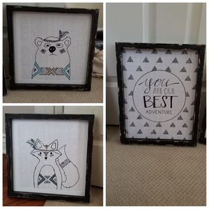 Set of 3 little camper room decor for Sale in Temecula, CA