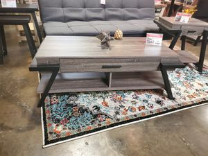 CMC Coffee Table, Distressed Grey & Black for Sale in Westminster, CA