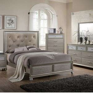 🌟🌟SUPER SALE ( Lila Collection Bedroom Set) 4 PCS QUEEN BEDROOM * Mattress Not included * for Sale in Long Beach, CA