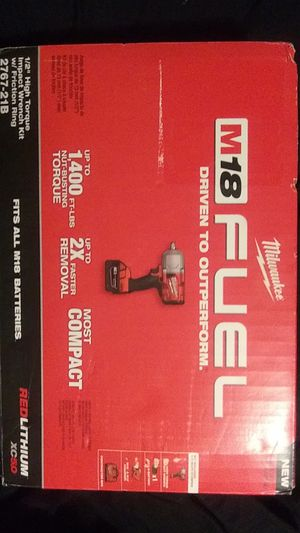 """Milwaukee m18 fuel 1/2"""" high torque impact wrench kit w/ friction ring for Sale in Brighton, CO"""