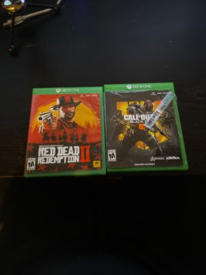 Red dead redemption 2 and Black ops 4 -Xbox one for Sale in Issaquah, WA
