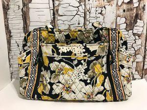 Vera Bradley Messenger In Retired Dogwood Yellow Black Floral Cotton Diaper Bag for Sale in Denver, CO