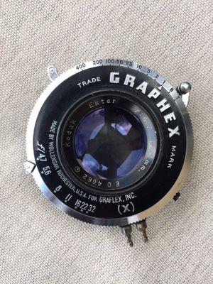 Kodak wollensak graphex 127 mm 4.7 lens for Sale in Hialeah, FL
