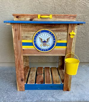 Navy wooden cooler for Sale in Goodyear, AZ