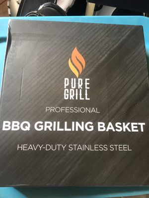 BRAND NEW PURE GRILL STAINLESS STEEL BBQ BARBECUE GRILLING BASKET for Sale in Fresno, CA
