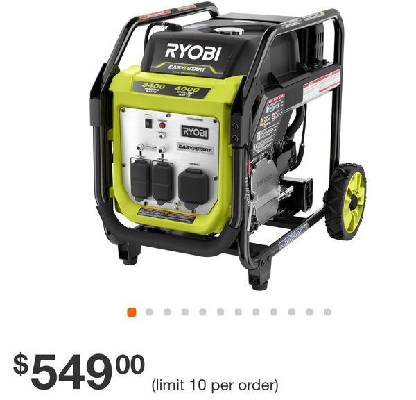 Ryobi 4000 watt generator