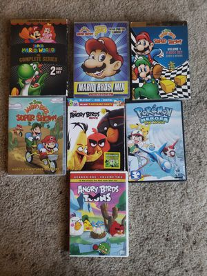 Super Mario bros, Angry birds and pokemon DVD'S for Sale in Sanger, CA