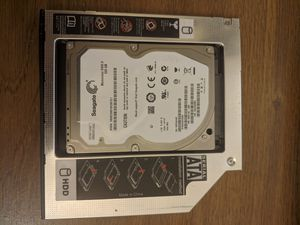 9.5mm Universal Caddy SATA 2nd HDD SSD Hard Drive CD/DVD-ROM Optical Bay adapter for Sale in Adelphi, MD