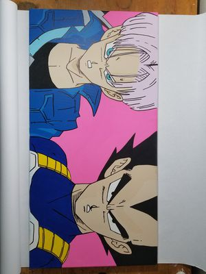 Dragon ball z future trunks and vegeta painting for Sale in Santa Monica, CA